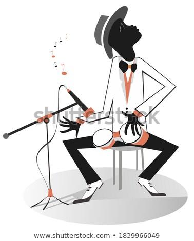 Játszik zene inspiráció retro szín rajz Stock fotó © tiKkraf69