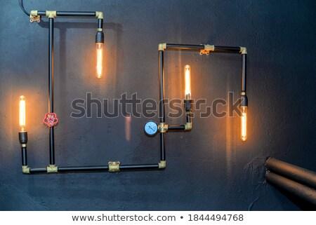 velho · vermelho · industrial · porta · fechado · indústria - foto stock © dinozzaver