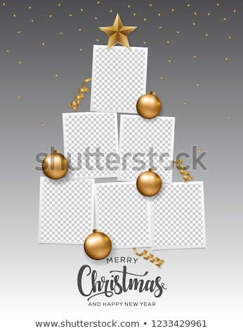 Photo frame and christmas baubles  Stock photo © Massonforstock