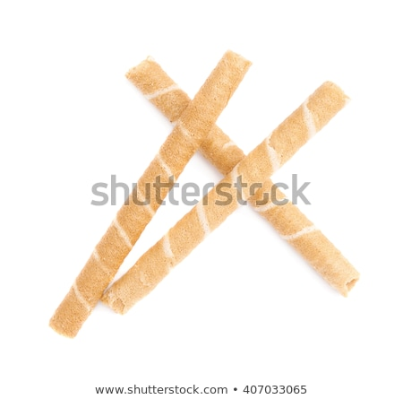Cream filled rolled wafer Stock photo © Digifoodstock