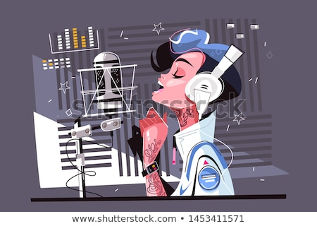 Recording A New Hit Song Stock photo © MilanMarkovic78