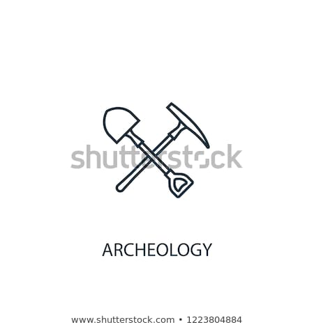 mining shovel line icon stock photo © rastudio