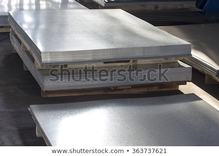 Folded Metal Zinc Sheet Photo stock © quka