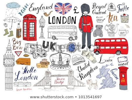 британский · флаг · Великобритания · флаг · оказывать · атласных - Сток-фото © kb-photodesign