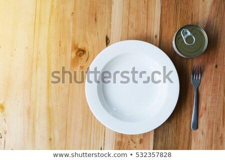 オープン 空っぽ 魚 錫 することができます 表 ストックフォト © stevanovicigor