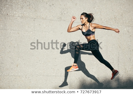 Running woman, outdoors activity stock photo © blasbike