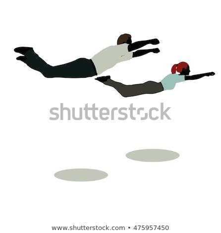 super · helden · mannelijke · vrouwelijke · illustratie · cartoon - stockfoto © istanbul2009