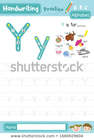 Flashcard alphabet Y is for yellow Stock photo © bluering