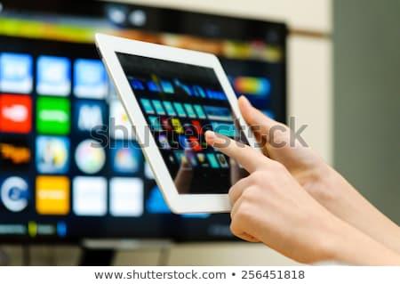 nagyfelbontású · LCD · tv · izolált · televízió · terv - stock fotó © iko