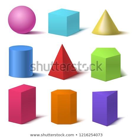 単純な 幾何学的な 図 広場 ポリゴン 別 ストックフォト © Vanzyst
