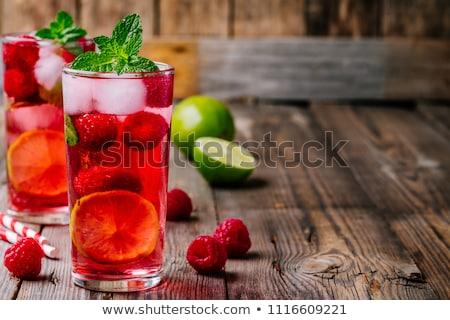 Nyár hideg alkoholos ital friss gyümölcsök bogyók Stock fotó © yelenayemchuk