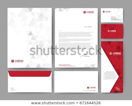 Abstrakten Marke Briefkopf Design Muster Business Stock foto © SArts