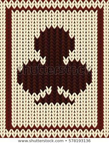 Kötött póker kártya divat háttér öltöny Stock fotó © carodi