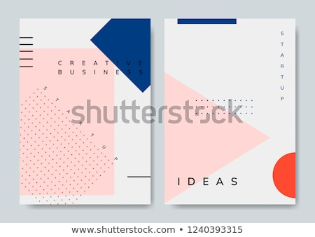 creative memphis style background in gray and pink shapes Stock photo © SArts