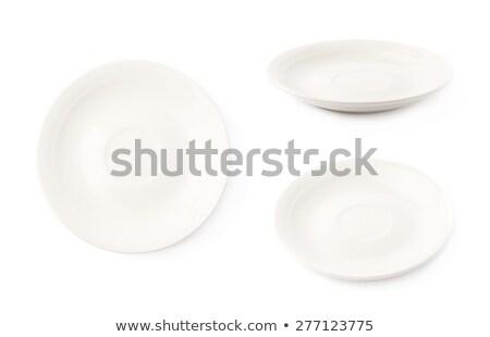 элегантный белый блюдце пусто объект блюдо Сток-фото © Digifoodstock