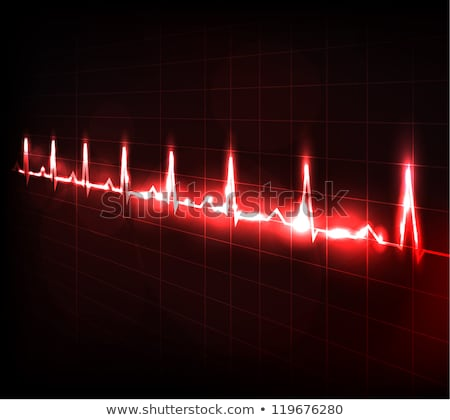 Beautiful cardiology heart design and normal cardiogram Stock photo © Tefi