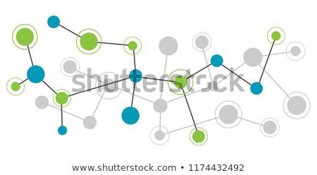 Streszczenie fioletowy niebieski budowy sieci muzyka Zdjęcia stock © SwillSkill