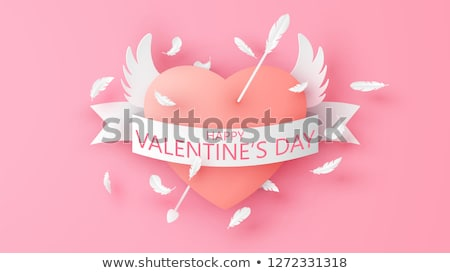 paper heart with cupid stock photo © genestro