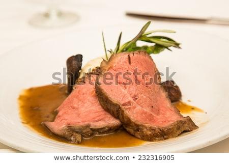 Stock photo: Mash potato on round plate