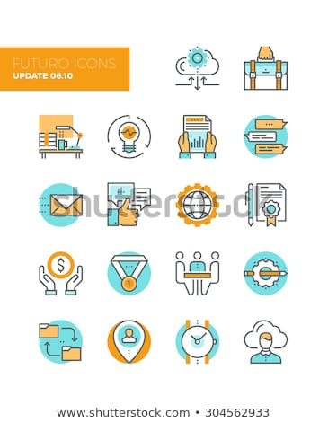 Value of Time Icon. Flat Design. Stock photo © WaD