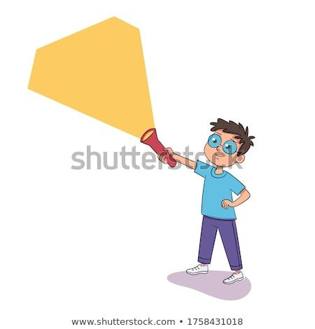 Imaginário escapar abstrato idéia pessoa em pé Foto stock © psychoshadow