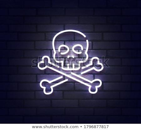 Halloween színes neon ikon szett feliratok gyors Stock fotó © Voysla