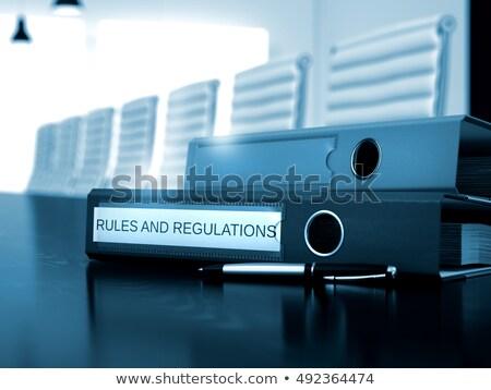 Imagem ilustração 3d dobrador preto escritório área de trabalho Foto stock © tashatuvango