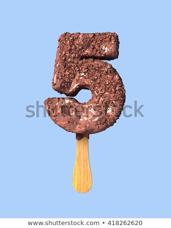 ice font number 5 five 3d stock photo © djmilic