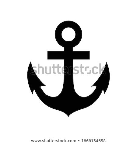 Kotwica odizolowany łodzi statku wody projektu Zdjęcia stock © popaukropa