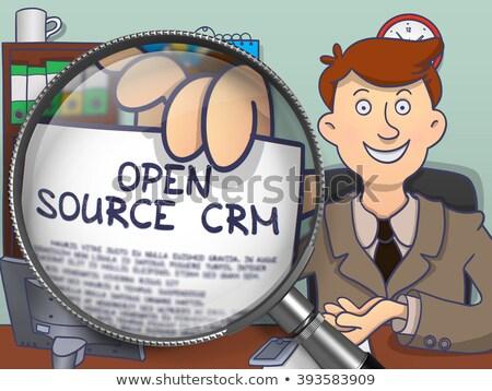 ストックフォト: オープン · ソース · crm · いたずら書き · スタイル