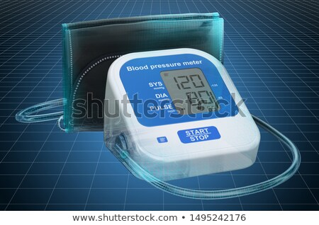 Electronical Sphygmomanometer  Stock photo © Hofmeester