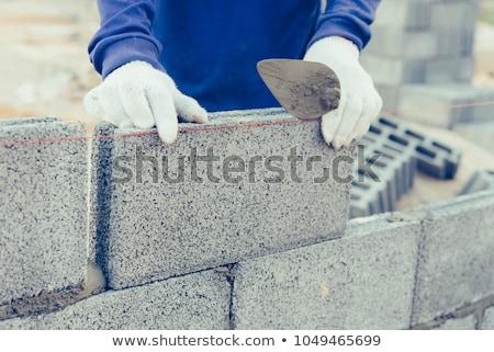 каменщик работник кирпичных кирпичная кладка внешний Сток-фото © milsiart