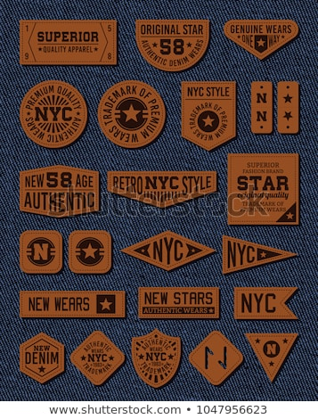 jeans · branco · couro · textura - foto stock © donatas1205
