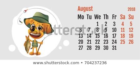 Ano amarelo cão chinês calendário diversão Foto stock © orensila