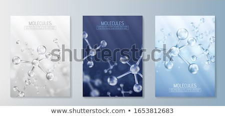 Molecular structure. 3D Stock photo © user_11870380
