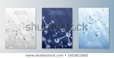 молекулярный структуры 3D аннотация здоровья Сток-фото © user_11870380