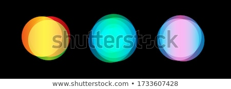set of icons with bokeh on vector illustration stock photo © robuart