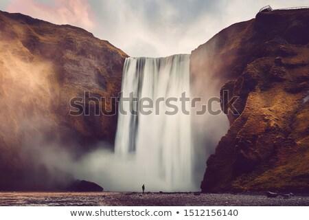 Icelandic landscape of waterfall Stock photo © bezikus