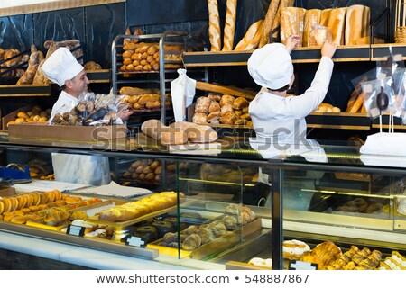 Due persone panetteria uomo cucina fresche Foto d'archivio © IS2