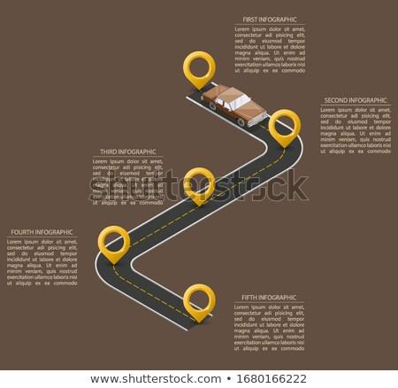 Vettore infografica timeline schema modello diagramma Foto d'archivio © orson