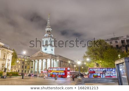 église Londres horloge Voyage nuage ciel bleu Photo stock © IS2