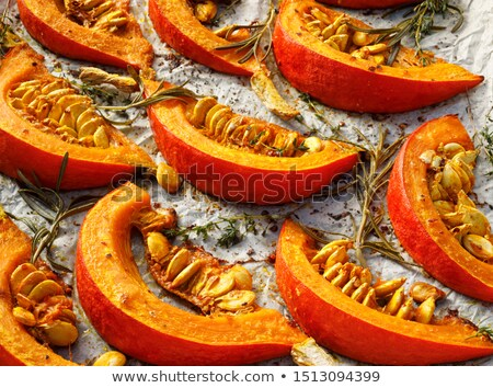 Roasted pumpkin with addition aromatic herbs Stock photo © Melnyk