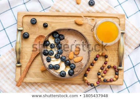 BlackBerry smoothie granola grec yogourt verre Photo stock © Lana_M