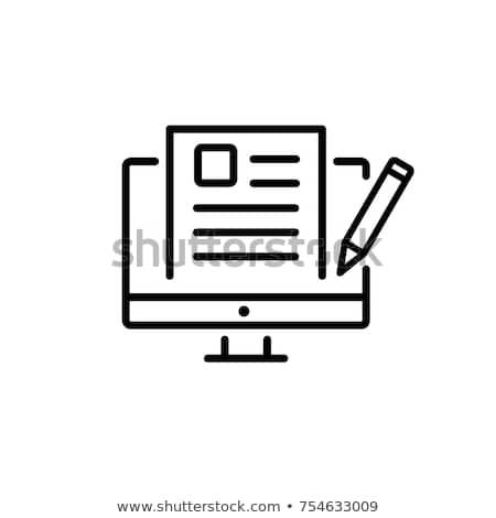 Blogs icon Stock photo © lemony