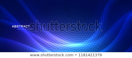 abstrract blue wavy background with circular lines stock photo © sarts