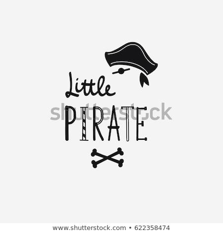 mały · pirackich · dziecko · marynarz · kostium · uśmiechnięty - zdjęcia stock © cthoman