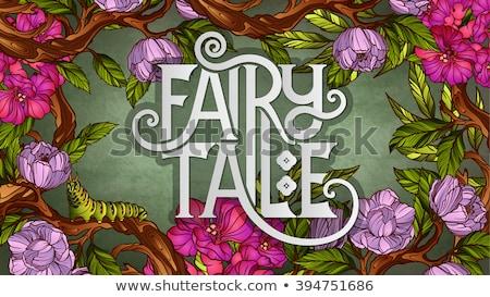 Foto stock: Desenho · animado · lagarta · texto · ilustração · sorridente
