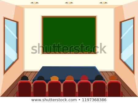 Wnętrza dramat klasie ilustracja szkoły świetle Zdjęcia stock © bluering
