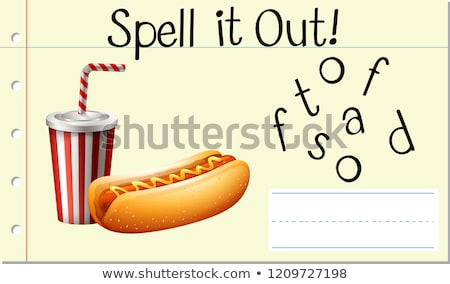 Spell English word fastfood Stock photo © bluering