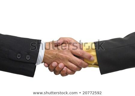 ördög · mutat · üzlet · kéz · mosoly · férfi - stock fotó © elnur